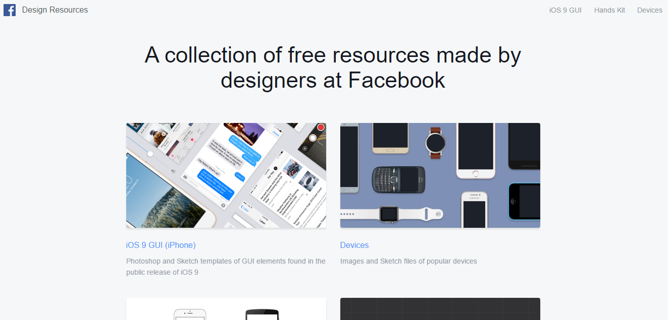 Facebook Design Resource