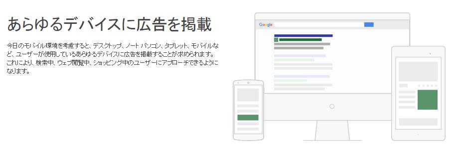 Google デバイス別表示 ※Google公式HPより参照