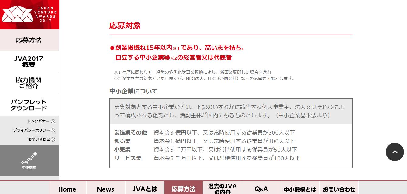 起業家の登竜門。JAPAN VENTURE AWARDS(応募方法)