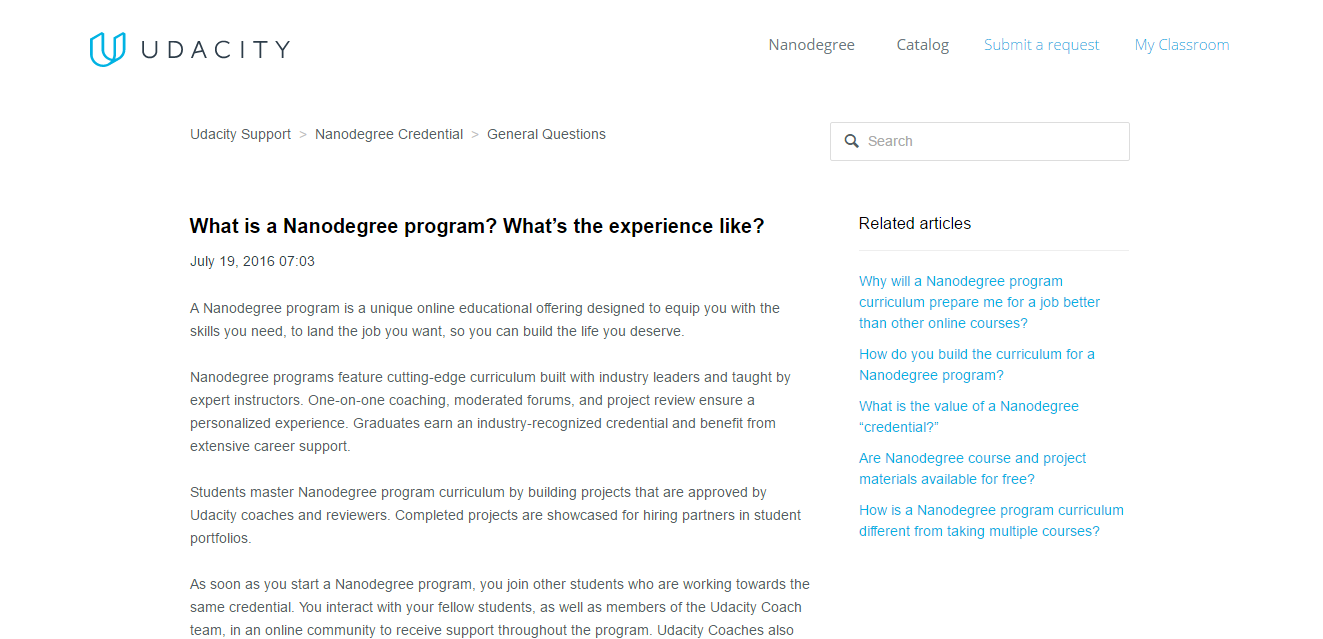 What is a Nanodegree program